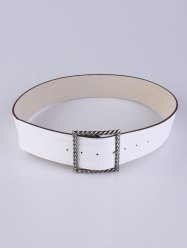 Coat Wear Hollow Twist Square Pin Buckle Belt -