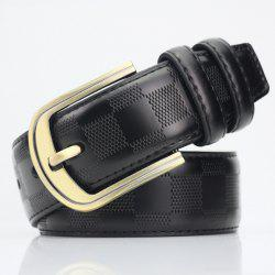 Casual Pin Buckle PU Place Embossed Belt - Noir