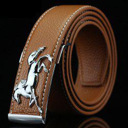 Polished Horse Hidden Pin Buckle PU Belt