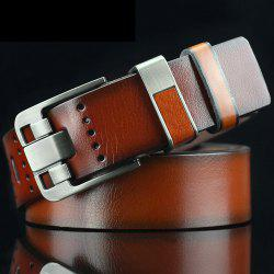 Casual Pin Buckle PU Geometric Emboss Belt