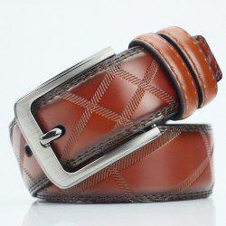 Pin Buckle PU Casual Plaid Belt