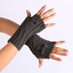 Twist Knitted Owl Fingerless Gloves