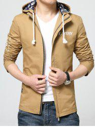 Stand Collar Detachable Hooded Zip-Up Jacket