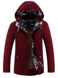 Hooded Keep Warm Printed Zip-Up Jacket