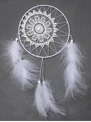 Circular Net With Feathers Dreamcatcher Multipurpose Keyring