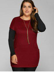 Plus Size Pockets Design Twinset T-Shirt