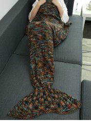 Warmer Thicken Knitted Sleeping Bag Mermaid Blanket Throw - COLORMIX