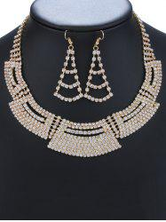 Rhinestone Fan Shaped Jewelry Set