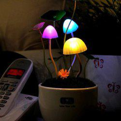 Colorful Mushroom Bonsai Sensor Room Decor LED Night Light - COLORFUL