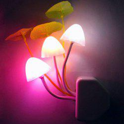 Colorful Socket Power Supply Mushroom Bedside LED Night Light - WHITE