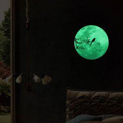 Creative Moon Design Home Decoration Noctilucence Wall Sticker -