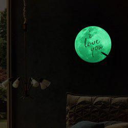 Home Decoration Moon Night I Love You Noctilucence Wall Sticker -