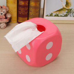 Household Dice Shape Extractive Tissue Storage Box - PINK
