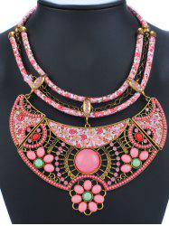 Ethnic Floral Enamel Statement Necklace