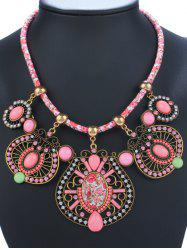 Geometry Rhinestone Enamel Statement Necklace