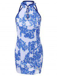 Porcelain Pattern Cheongsam Bodycon Dress