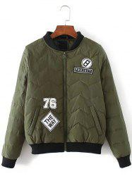 Patched Bomber Jacket -