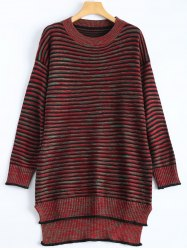 Plus Size Striped Sweater Dress -
