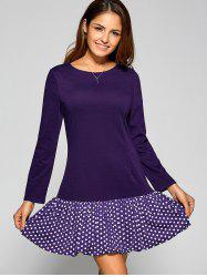 Polka Dot Long Sleeve T Shirt Dress