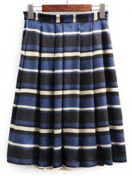 High Waisted Stripe Skirt -