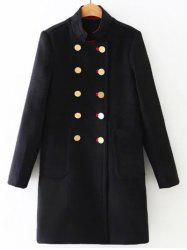 Long Double Breasted Woolen Coat -