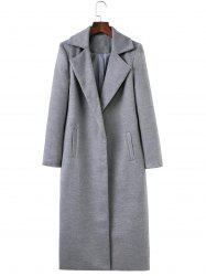 Fitted Twin Pockets Wool Coat