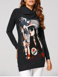 Figure High Neck Long Sweatshirt