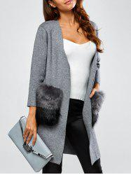 Open Front Pockets Cardigan -