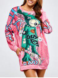 Long Cartoon Loose Sweatshirt