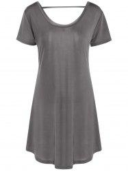 Hollow Out Tunic Tee Casual Dress -