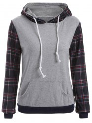 Pocket Checked Hoodie -
