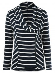 Zipper Up Striped Jacket -