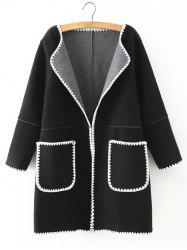 Wool Pockets Plus Size Coat -