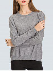 Relaxed Fit Zip Back Sweater -
