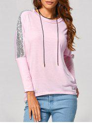 Batwing High Low Sequin T-Shirt -