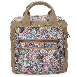 Ethnic Style Canvas Paisley Print Backpack - ORANGE