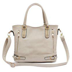 Metal Buckle Straps PU Leather Handbag