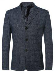 Single Breasted Lapel Plaid Long Sleeve Jacket Blazer