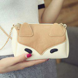 Chains Cartoon Color Block Crossbody Bag