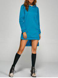 Active Slit Drawstring Hoodie Dress