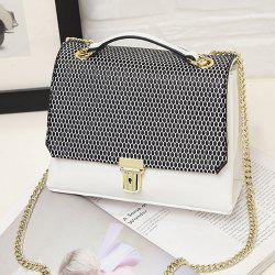 Dots Chain Square Shape Crossbody Bag -