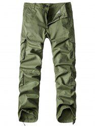 Pockets Design Straight Leg Basic Cargo Pants