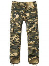 Pockets Design Straight Leg Camouflage Cargo Pants