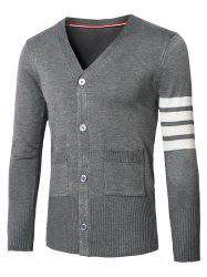 V-Neck Varsity Stripe Cardigan -