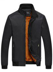 Zipper Pied De Col-Up Pocket Thermique Jacket - Noir XL