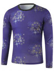 Star Printed Crew Neck Long Sleeve Sweatshirt