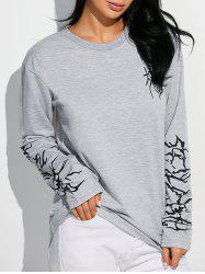 Extra Long Sleeve Graphic Sweatshirt