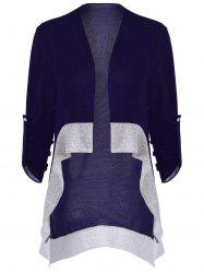 Asymmetrical Color Block Cardigan