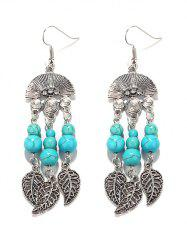 Bohemian Turquoise Leaves Chandelier Earrings