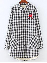Plus Size Fleece Lined Checked Shirt -